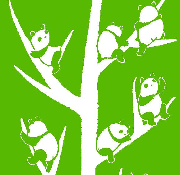 パンダ黄緑イメージ